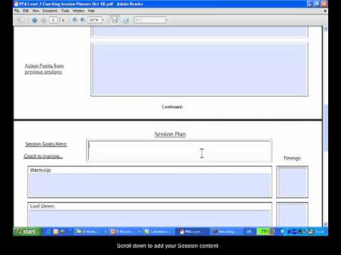 Interactive Session Plan Form