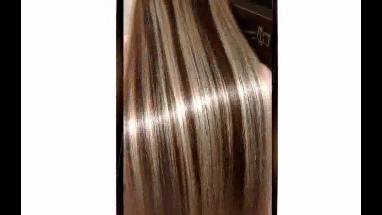 Hair Color Highlights Dark Hair - YouTube