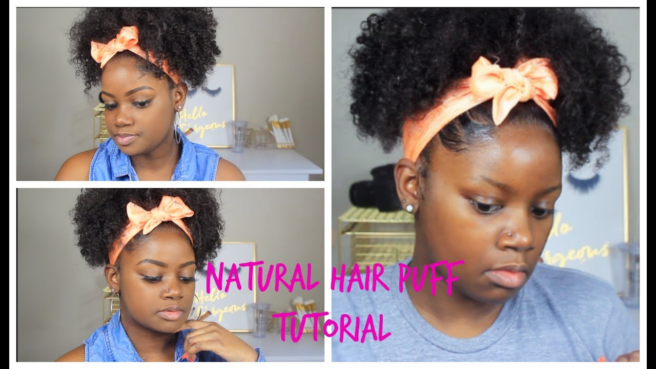 quick and easy summer natural hairstyle | puff ponytail