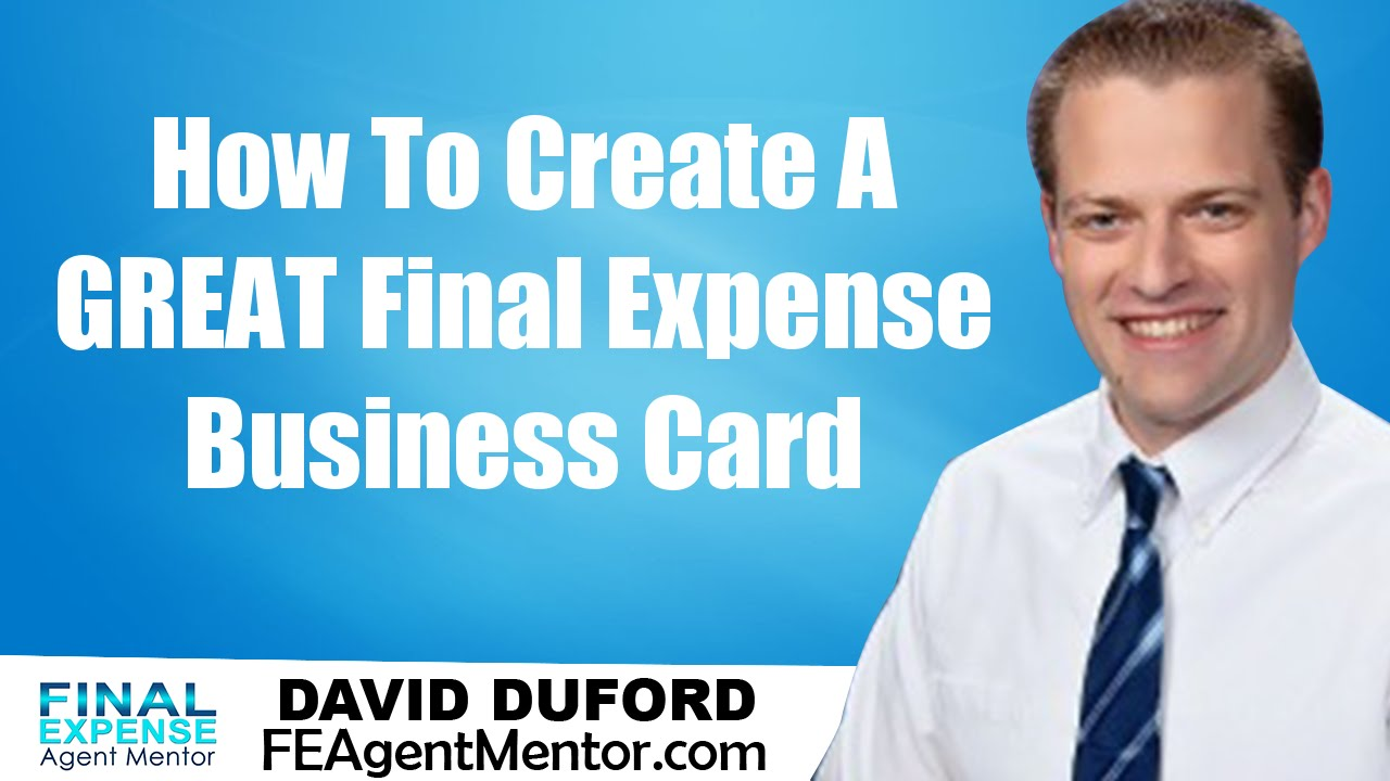 Final Expense Business Card Design 101 - YouTube