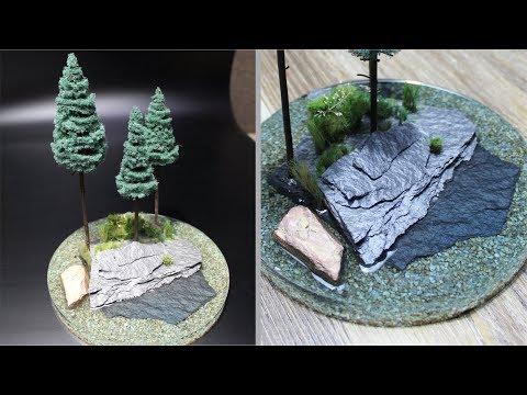 How to make pine trees diorama l Resin Art l DIY