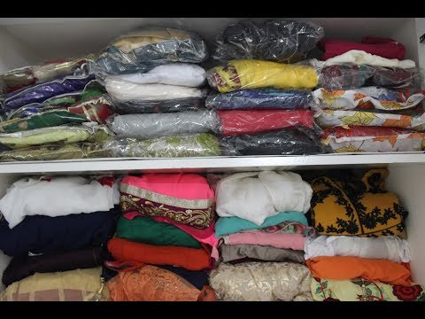 HOW TO ORGANISE AND FOLD ANARKALI SUITS    INDIAN CLOSET ORGANISATION ( ENGLISH )