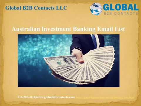 Australian  Investment Banking Email list