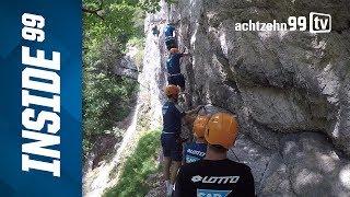 Hoch hinaus - Klettern statt kicken für die TSG-Profis
