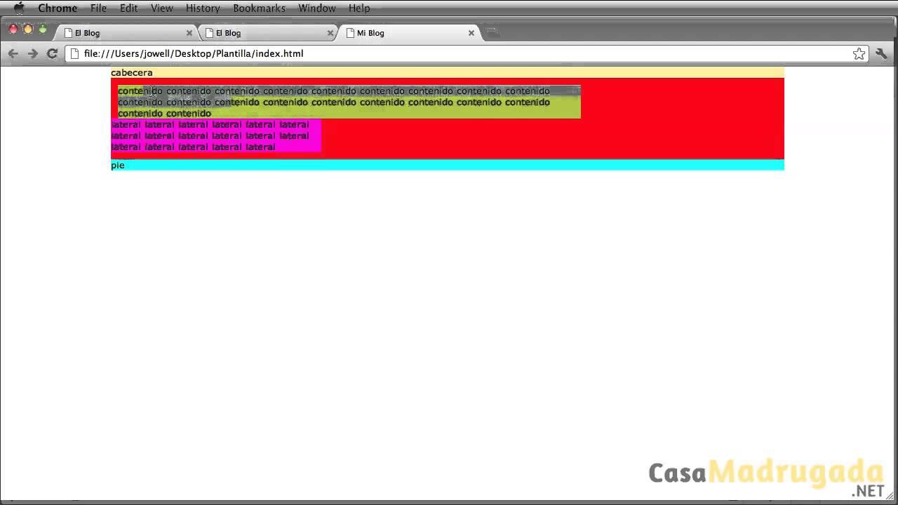 Tutorial XHTML & CSS - 62 - Crear Plantilla/Template - Flotantes ...