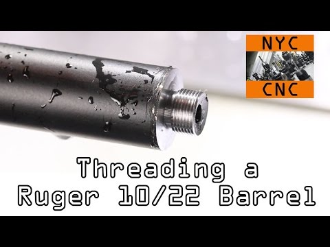 Threading a Ruger 10/22 Barrel for a Silencer!