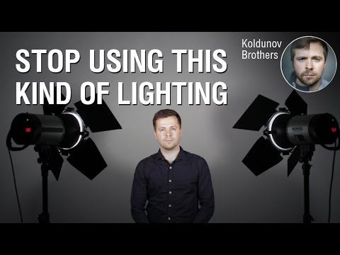 How to set up lighting for a video blog and studio shooting
