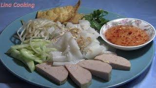 BÁNH ƯỚT HẤP KHUÔN dẻo mềm , dễ làm - VIETNAMESE STEAMED RICE RECIPE || Lina Cooking