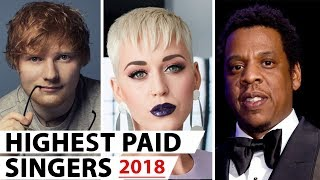 Top 10 Highest Paid Singers 2018 - 2019