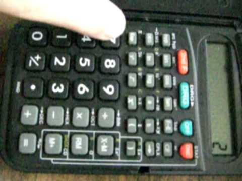 calculator weird EXP button - YouTube
