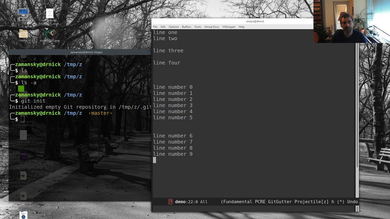 Using Emacs 42 - Git Gutter and Timemachine