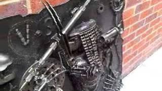 Alien Vs Predator Wall Mounted Metal Art Productions Scrap Parts Sculpture