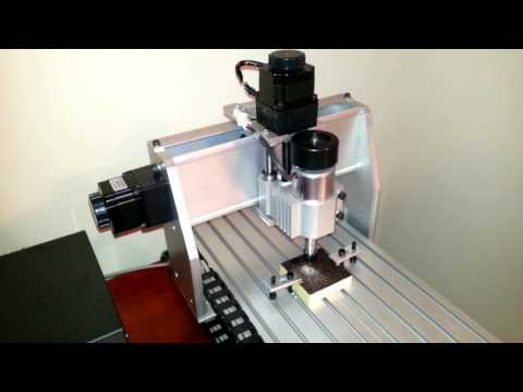 Mini CNC Router - Engraving Machine - Running Its First Hand Written Program