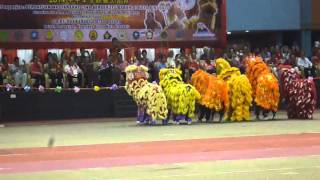 YICK NAM LION DANCE INTRODUCTION - LIKAS STADIUM (18JAN 2014)