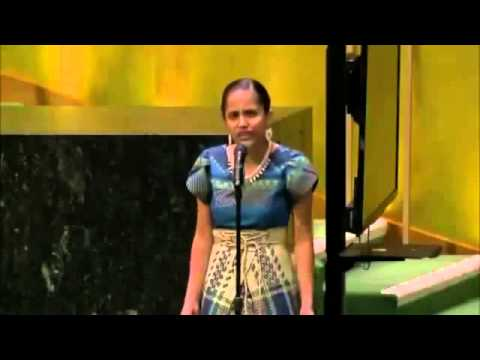 Poet Kathy Jetnil-Kijiner brings UN Climate Summit to Tears
