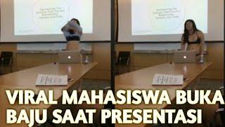 Mahasiswa buka baju saat presentasi