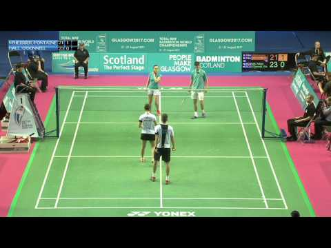 Badminton - Mittelheisser / Fontaine vs Hall / O'Donnell (XD, R32) - Scottish Open 2015