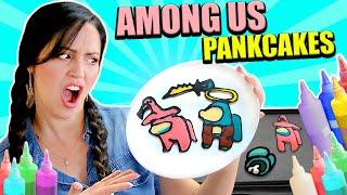Dibujando AMONG US con Comida! Pancake Art Challenge ♥ Sandra Cires Art