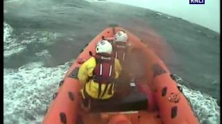 Lifeboats stop yacht from hitting rocks in the middle of a gale
