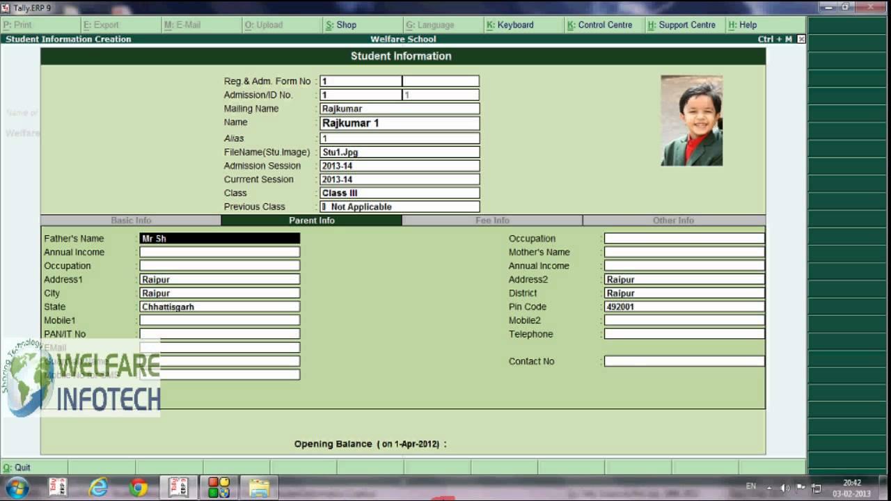 Creating Student Database In Schoolsoft 91