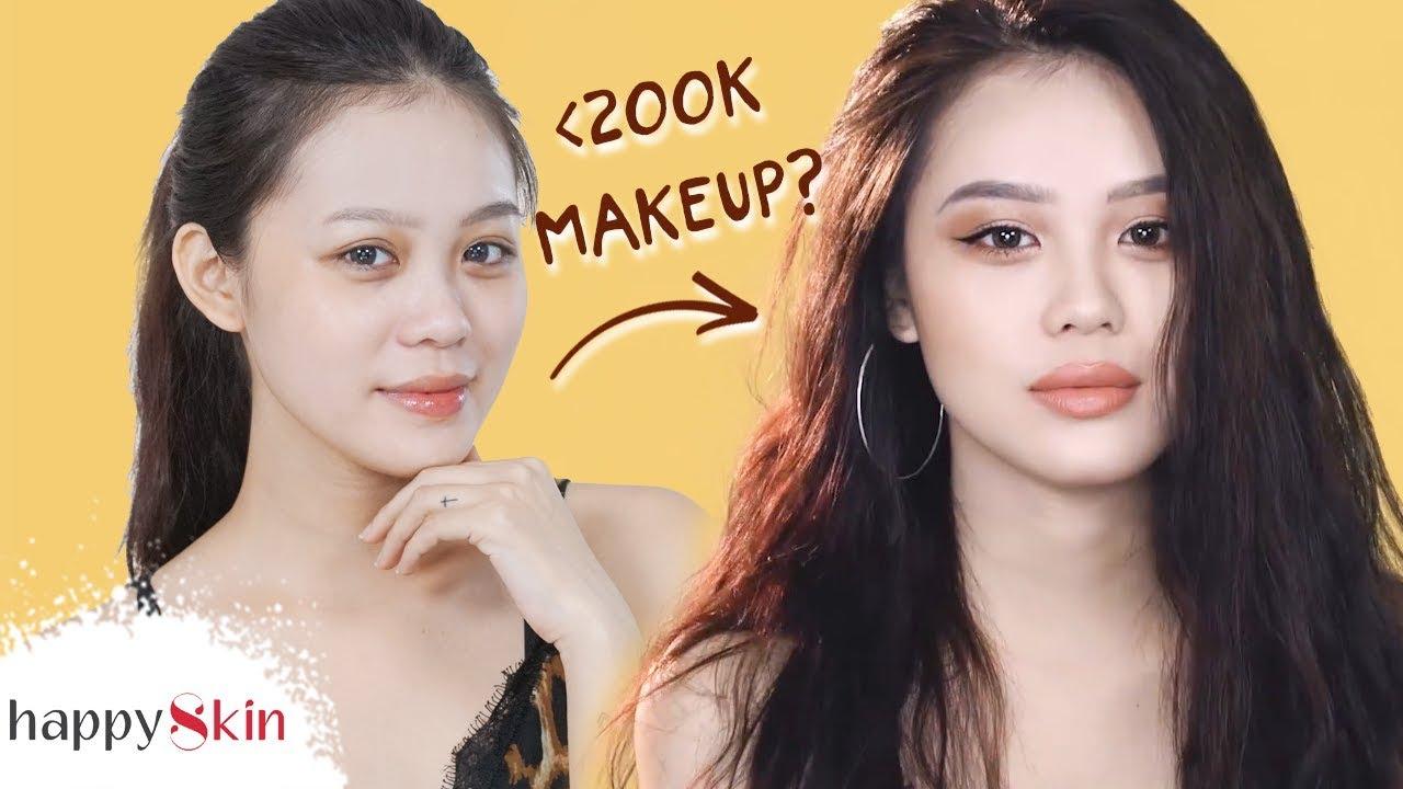3 cách TRANG ĐIỂM với mỹ phẩm nội địa Trung SIÊU RẺ! | AFFORDABLE MAKEUP LOOK | Happy Skin