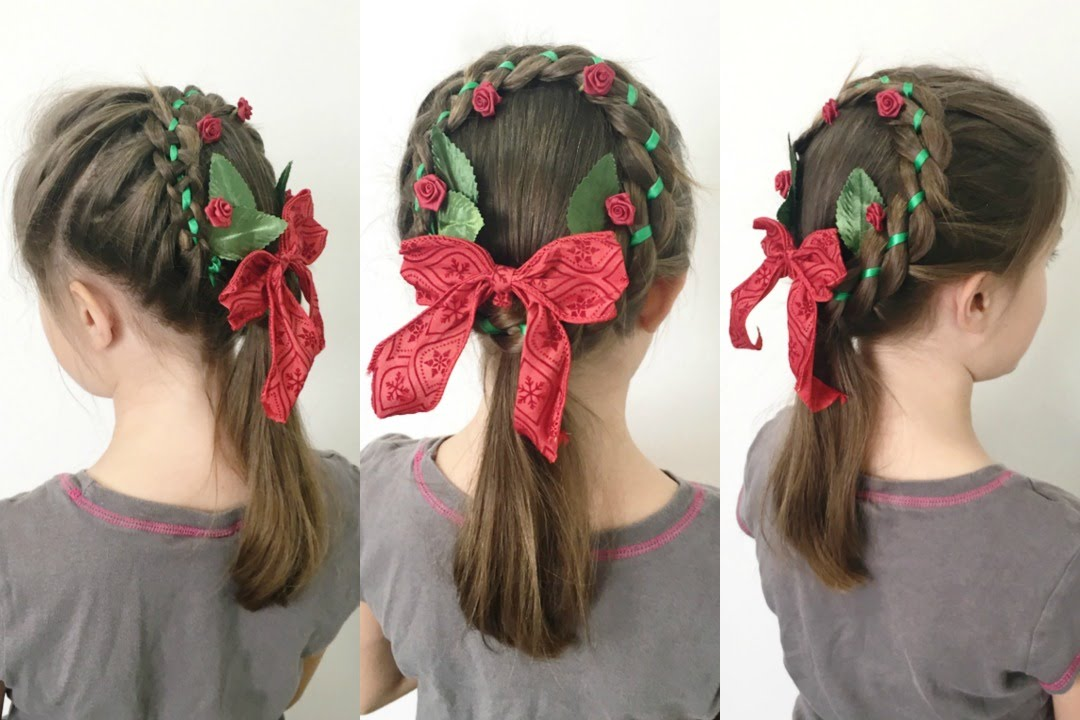 Christmas Wreath Braid Hairstyle 12 Braids Of Christmas Youtube