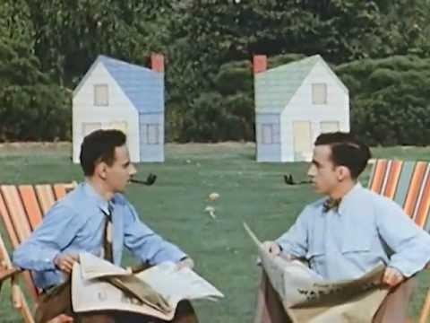 'Neighbours' (1952) - Academy Award-winning Short Film by Norman McLaren