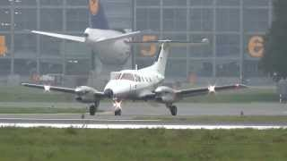French Navy Marine Nationale 87 Embraer EMB-121 landing + takeoff @ Hamburg Airport 11.10.2013