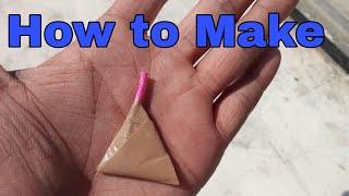 How to make | Cracker | Triangle Cracker | home made | 2019  Home made | foreign 2019 | Crackers