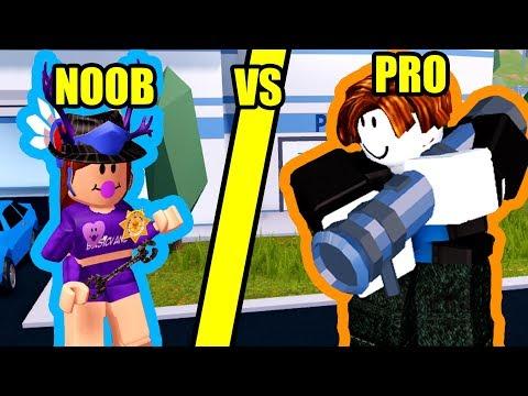 JAILBREAK NOOB vs JAILBREAK PRO! | Roblox Jailbreak