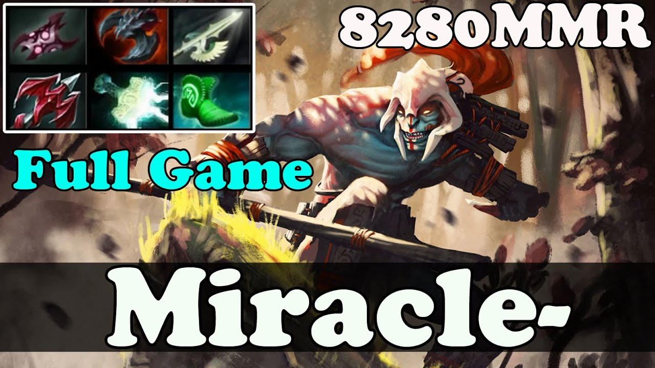 dota 2 miracle 8200 mmr plays huskar full game ranked match