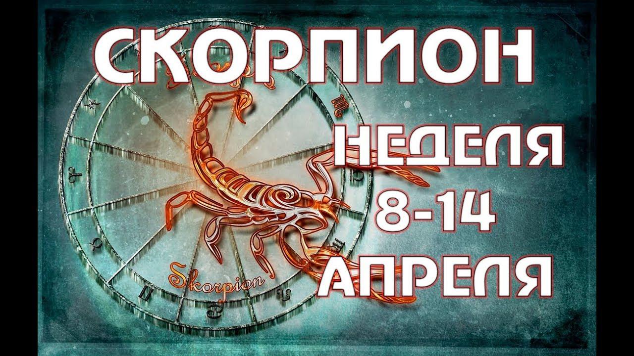 СКОРПИОН ПРОГНОЗ НА НЕДЕЛЮ С 8 по 14 АПРЕЛЯ — ТАРО ГОРОСКОП