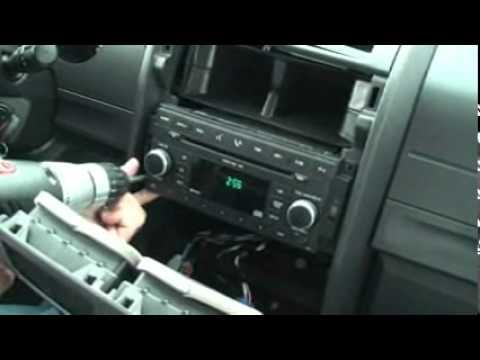 Dodge Nitro Radio Wiring Diagram 24v Trailer Socket Mygig 2007 Install Youtube