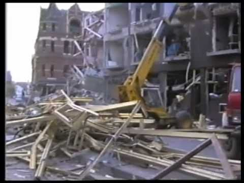 Portadown Bomb 1993 Raw footage & inside buildings
