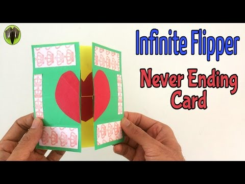 INFINITE FLIPPER | NEVER ENDING CARD - DIY | Handmade Tutorial by Paper Folds ❤️