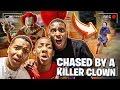 WE GOT CHASED BY A KILLER CLOWN IN PUBLIC!!😱