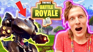 FORTNITE: I REPLAY AT BATTLE ROYALE AND I PRENDS A GIANT ROBOT! Free Game Nadège Candle