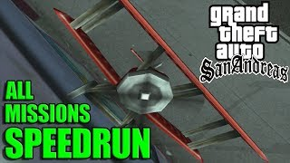 GTA San Andreas All Missions Speedrun