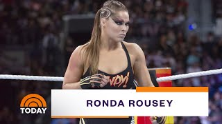 Ronda Rousey On Starring In WrestleMania's 1st All-Female Event | TODAY