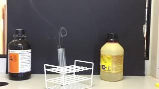 het maken van salmiak (ammoniumchloride)