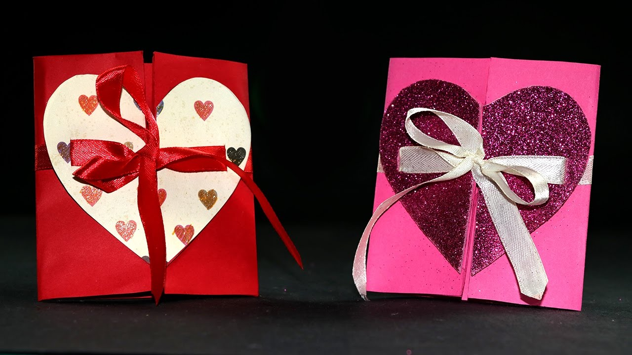 DIY Valentine Cards Handmade Valentine Heart Card Tutorial YouTube – Hand Made Valentine Cards
