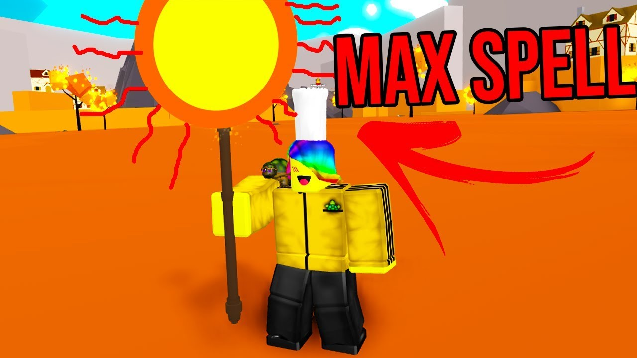 USING MAX MAGIC TO DESTROY MY ENEMIES (Roblox Magic Training Simulator)