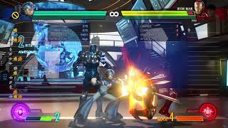 X/Iron man combo into a smart bomb reset