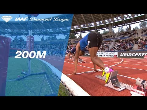Ramil Guliyev wins easily in the Men's 200m - IAAF Diamond League Paris 2017