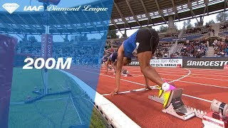 Ramil Guliyev wins easily in the Men's 200m - IAAF Diamond League Paris 2017