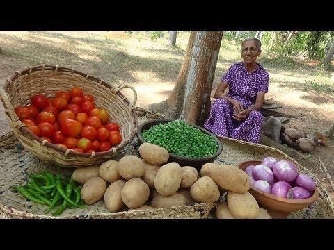 Green Peas Potato Curry ❤ Healthy Village Food By Grandma | Village Life