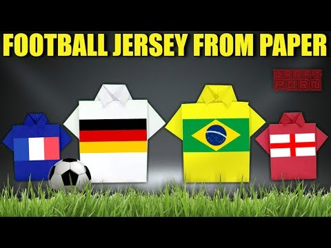How to make Football Jersey from Paper | Paper Soccer T shirt | Origami Soccer Jersey