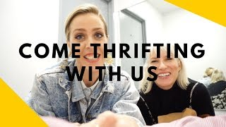 COME THRIFTING WITH US AT GOODWILL// FEATURING MOLLY LOOKING FOR MENSWEAR
