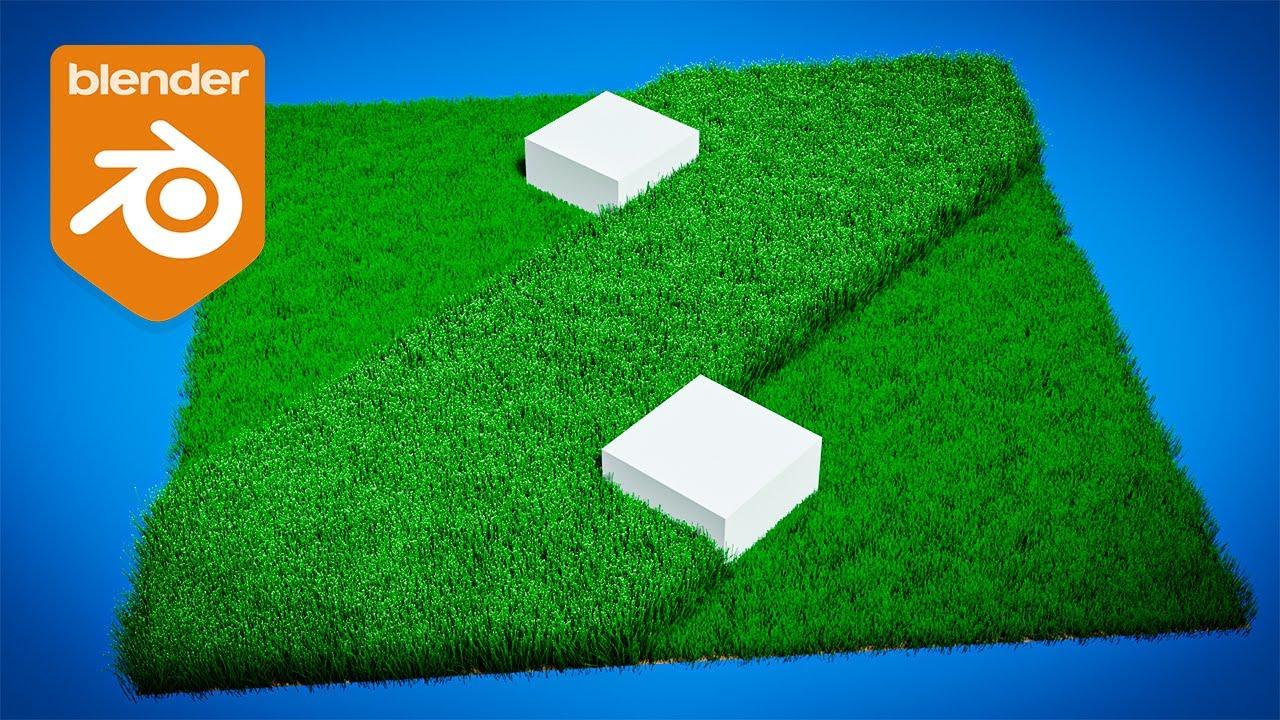 Blender Tutorial - Cutting Grass Animation