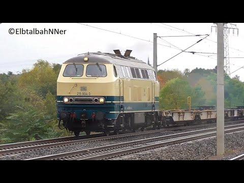 Radebeul-Weintraube mit 215 004+Güterzug, BR 101+EC 174, BR 143, 146, 442 / EC-Herbst17 [#3]